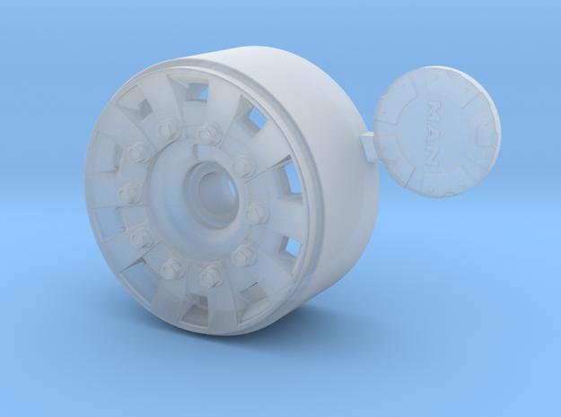 1/24 MAN TGX V8 front Wheel for italeri  in Smooth Fine Detail Plastic: 1:24