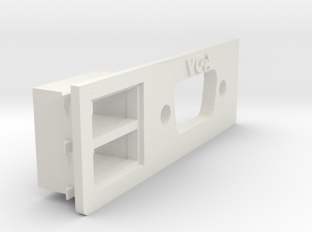 A1200 Rear Expansion VGA  & USB in White Strong & Flexible