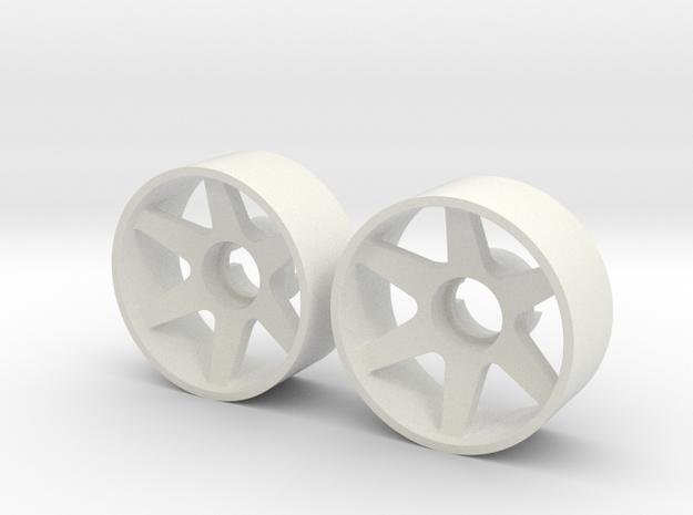 2x Llantas Mini-Z Delantera Offset 1 - 20mm in White Strong & Flexible