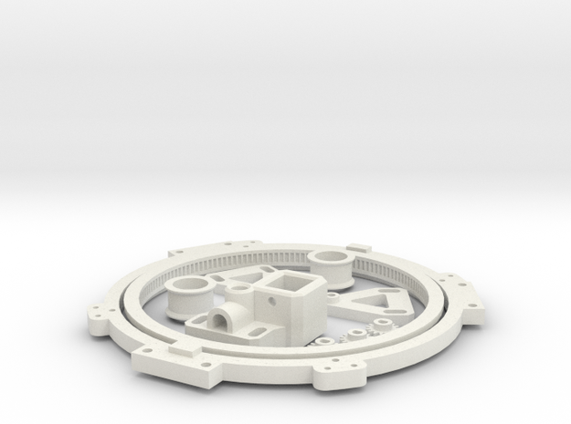 Turret Rotation Kit For 1974 Tamiya M4 in White Strong & Flexible