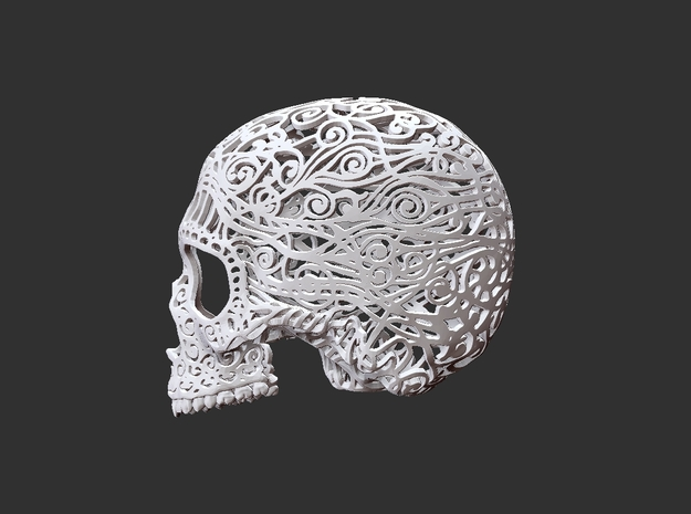 Skull Filagree P3 Top- 6.5cm 3d printed