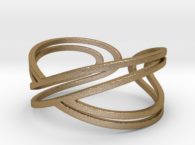 """Doble Infinity """"Infinito duplo"""" in Polished Gold Steel: 5.5 / 50.25"""