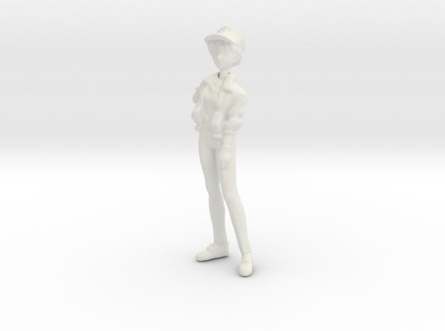 1l32 Racing Staff Female Mechanic in White Natural Versatile Plastic