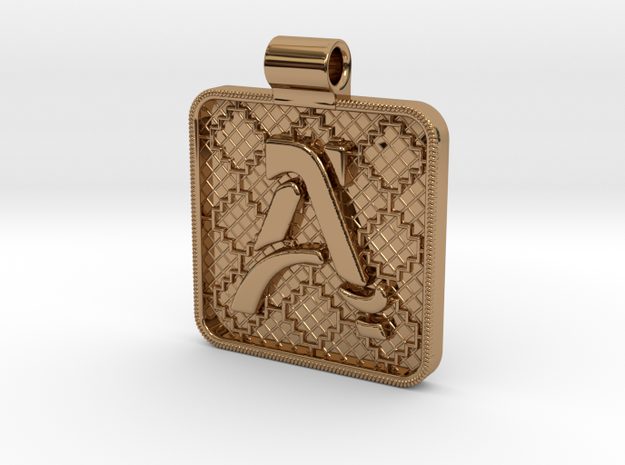 Saxon A Pendant in Polished Brass