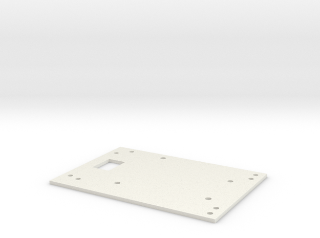Chip-E Top Plate in White Strong & Flexible
