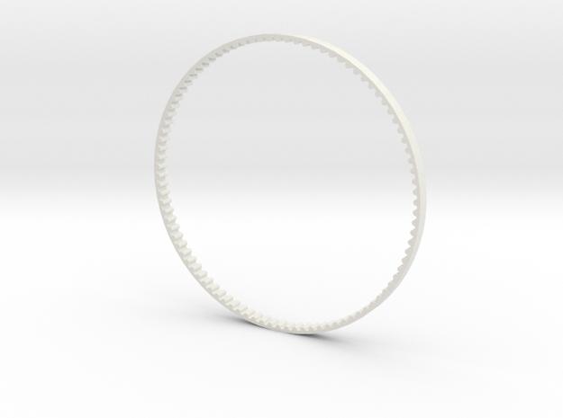 GT2 Belt 90 teeth 3mm wide in White Strong & Flexible