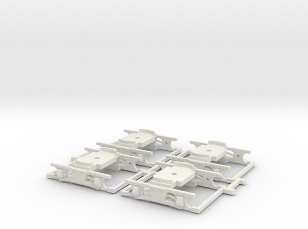 Drehgestelle Hamburg V2B (4 Stück) in White Natural Versatile Plastic