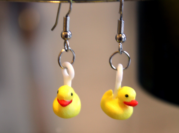 Rubber Ducks in Polished Nickel Steel