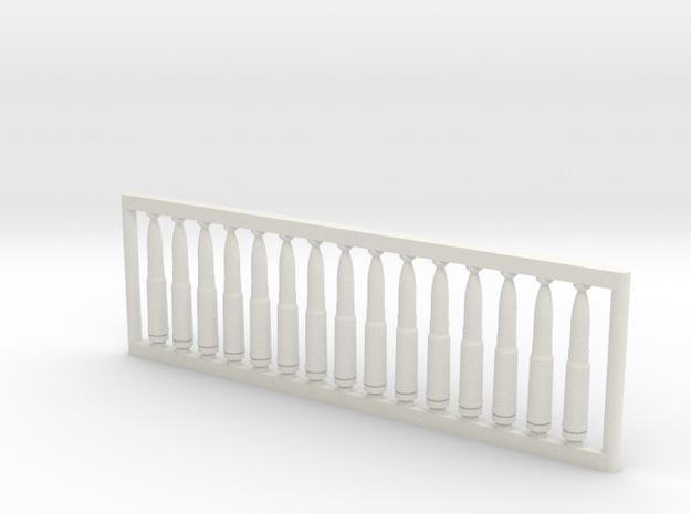 13x64 mm 1:6 scale  x15 in White Strong & Flexible: 1:600