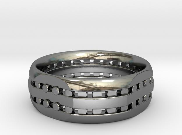 Split Ring in Fine Detail Polished Silver