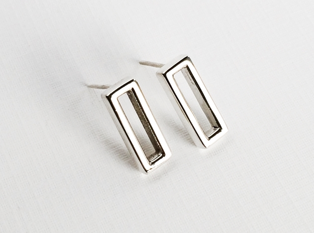 Rectangle Post Earrings, Rectangular Stud Earrings