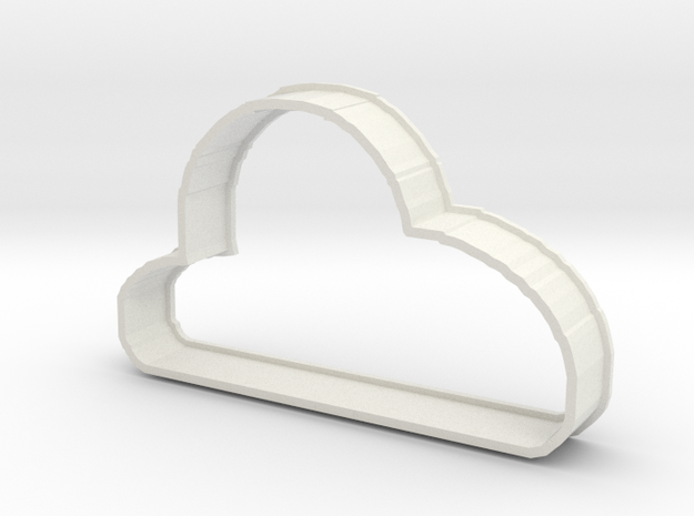 Cloud Cookie in White Natural Versatile Plastic