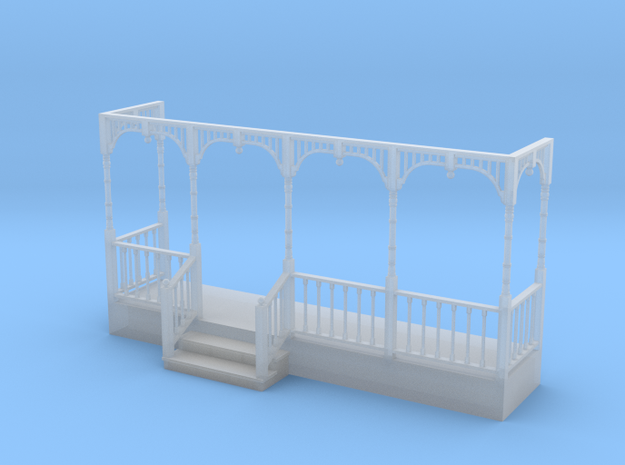 Miniature 1:48 Victorian Front Porch in Smooth Fine Detail Plastic