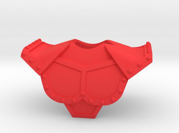 Prince Algor's Armor Single. in Red Processed Versatile Plastic