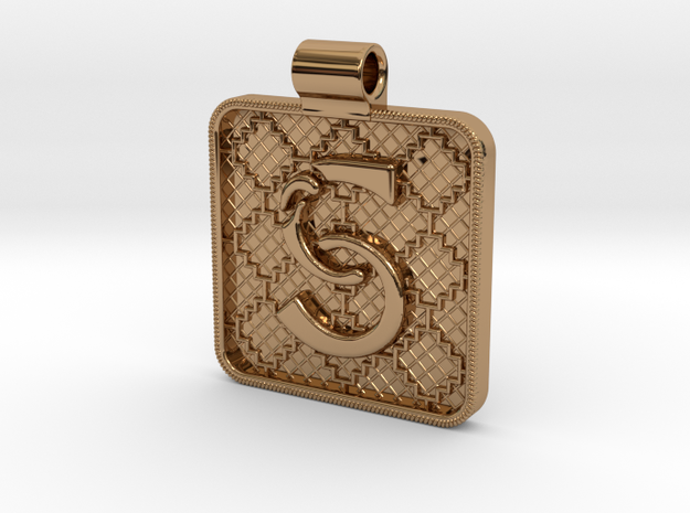 Saxon Pendant S in Polished Brass
