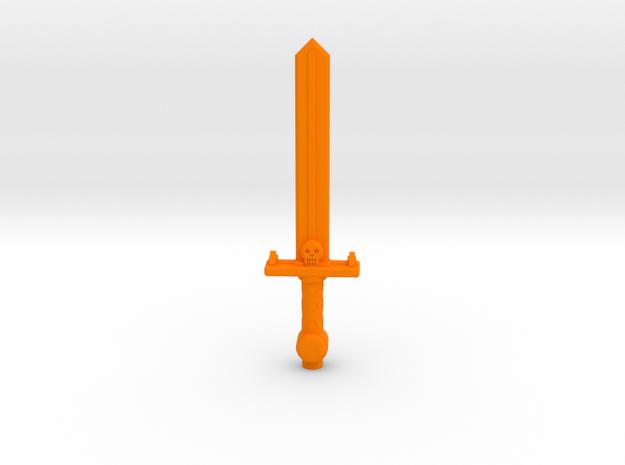 ROTU Skeleton Sword in Orange Processed Versatile Plastic