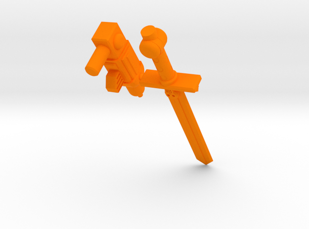 ROTU Skeleton Accessory set  in Orange Strong & Flexible Polished