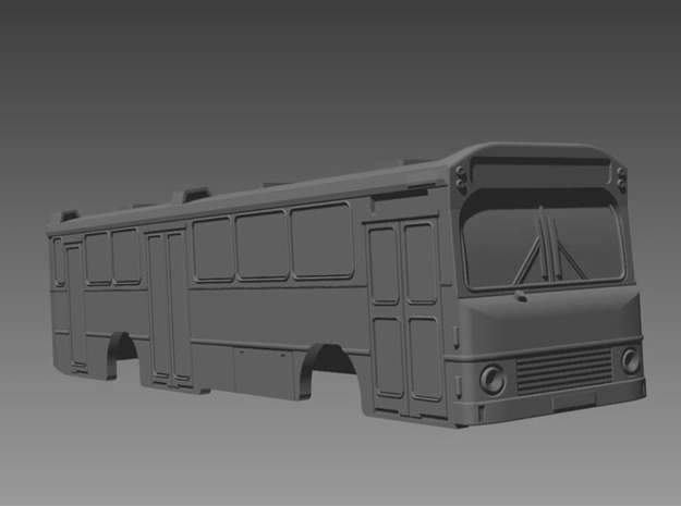 Volvo B10m HT Bus 2-2-1 N scale 3d printed With windows installed