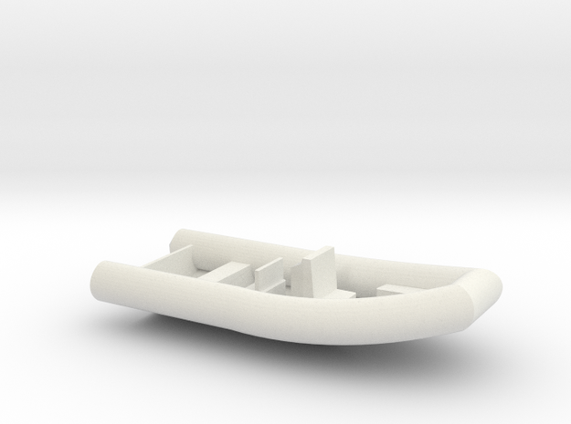 Rigid Inflatable Boat (1:50) in White Strong & Flexible