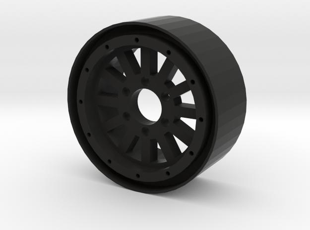 """1.9"""" 12 Spoke beadlock wheel in Black Strong & Flexible"""