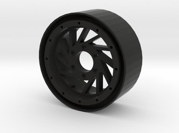 "1.9"" Hurricane beadlock wheel Left twist in Black Strong & Flexible"