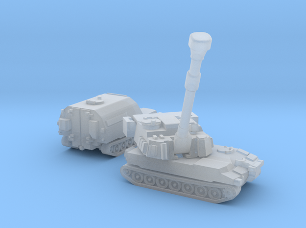 Paladin SP Howitzer and Ammunition Supply Vehicle  in Smoothest Fine Detail Plastic: 1:700