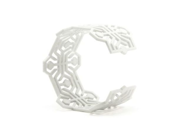 Bracelet Meandres Flexible in White Strong & Flexible