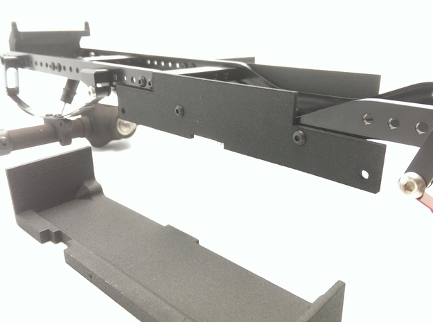 CMAX+Hilux Inner Battery Tray one side in Black Natural Versatile Plastic