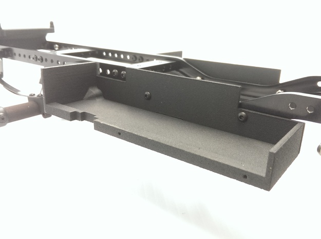 CMAX+Hilux RIGHT Battery Tray in Black Natural Versatile Plastic