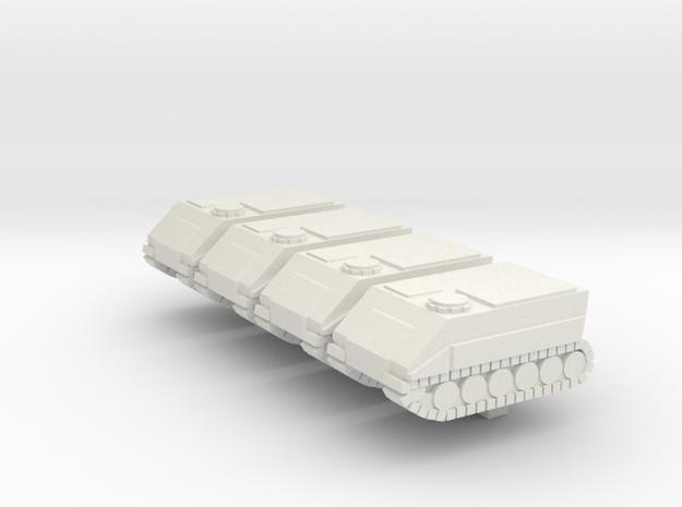 Badger MKIII Squadron in White Natural Versatile Plastic