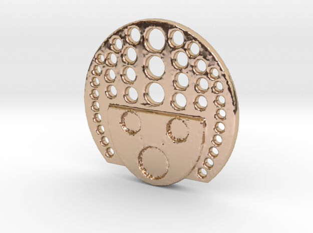 YAY white dot in 14k Rose Gold Plated Brass