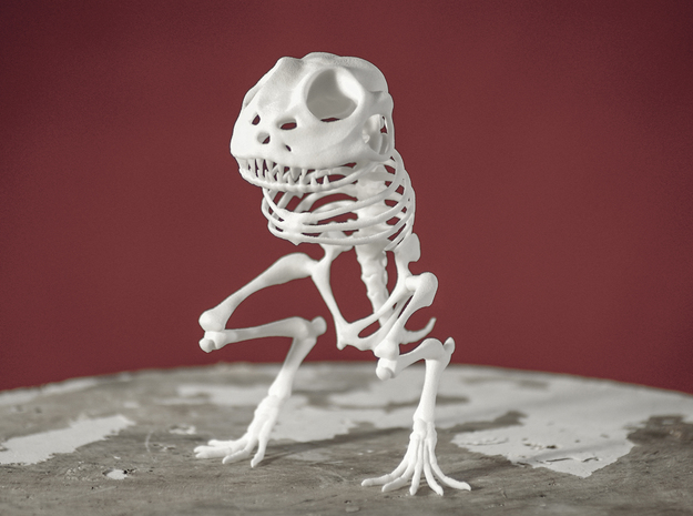 Canvey Island Monster Skeleton in White Natural Versatile Plastic