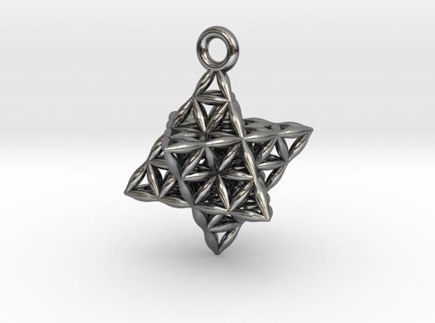 Flower Of Life Star Tetrahedron Pendant