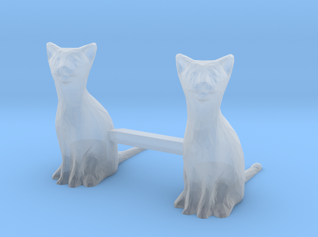 Cats Sitting S-Scale in Frosted Extreme Detail