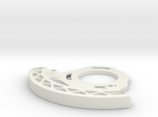 MTB Enduro Downhill 3D printed ISCG 05 Bashguard in White Strong & Flexible