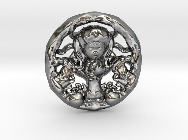 Yemanja 3cm in Fine Detail Polished Silver