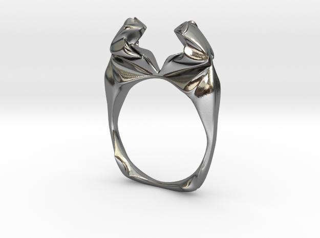 Frogring in Polished Silver