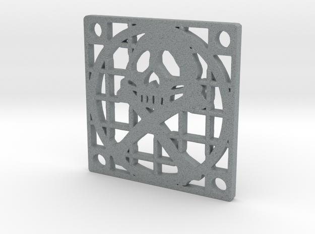 Fan Grille 30x30 Pyrat in Polished Metallic Plastic