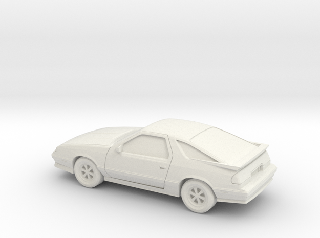 1/24 1992/93 Dodge Daytona in White Natural Versatile Plastic