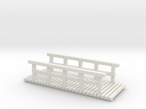 Holzbrücke 32mm (N 1:160) 3d printed