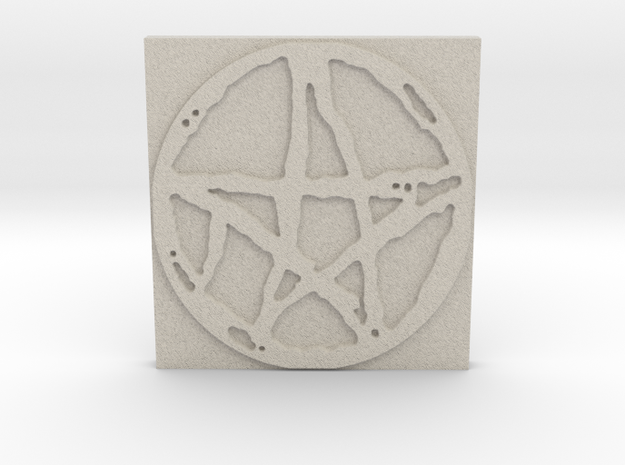 Rugged Pentacle 1 Tile by Gabrielle in Natural Sandstone