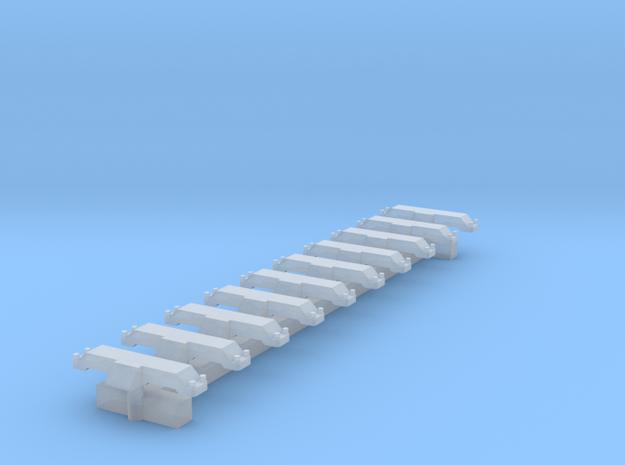 Spur N 10x Indusi Gleismagnet in Smooth Fine Detail Plastic
