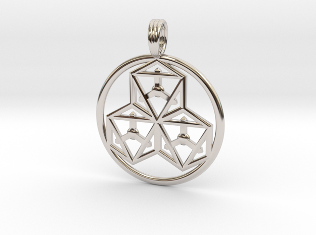 TRI-OCTAHEDRONS in Rhodium Plated