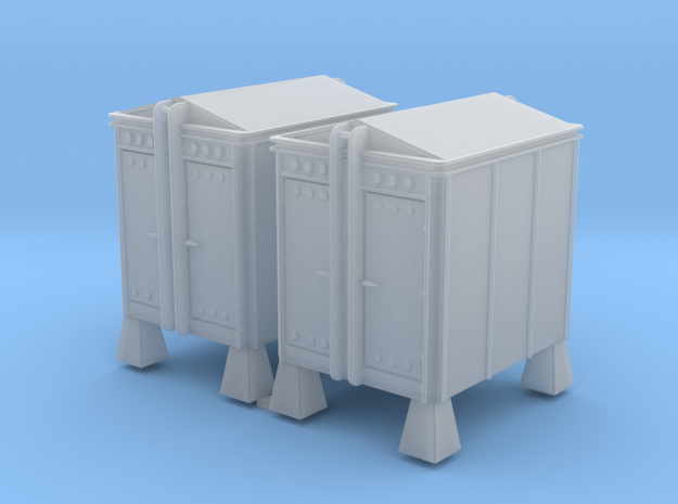 6x8 Union Style HM Instrument House 1-87 HO Scale in Smooth Fine Detail Plastic