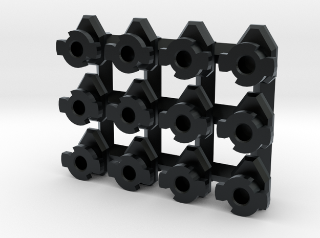 Set of 12 (6L & 6R) Swivel Hard Points for 1/60 3d printed