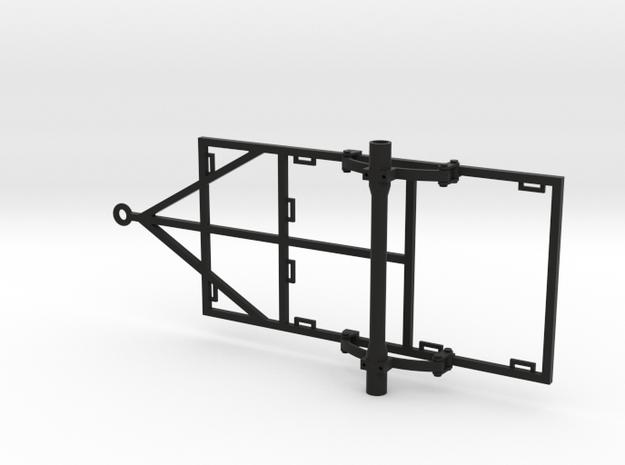 1/10 Scale 4x8 Trailer Frame w/ Leaf Spring Suspen in Black Natural Versatile Plastic
