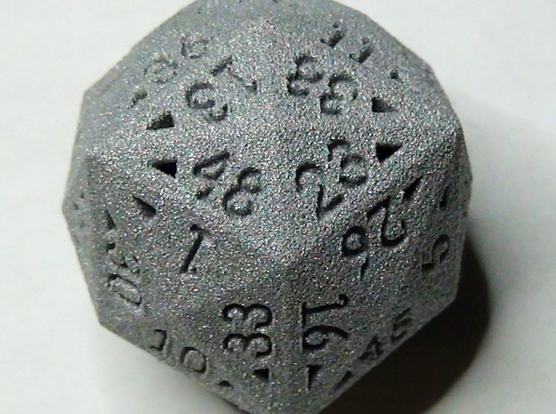 48 Sided Die - Regular 3d printed 48 Sided Die in Alumide