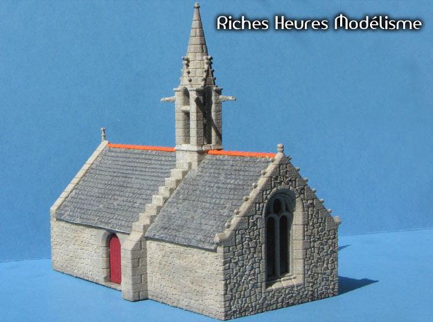 HORelM0104 - Gothic modular church in White Natural Versatile Plastic