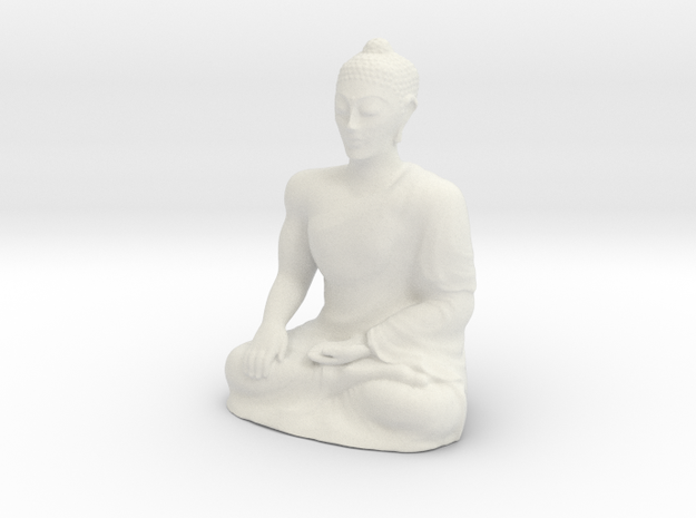 Empowering Buddha Statue in White Strong & Flexible