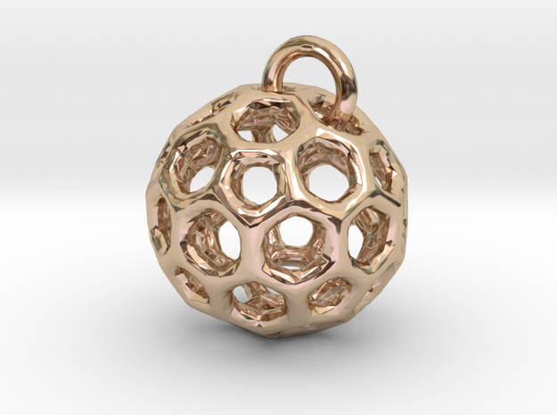 Pendant1 in 14k Rose Gold Plated Brass